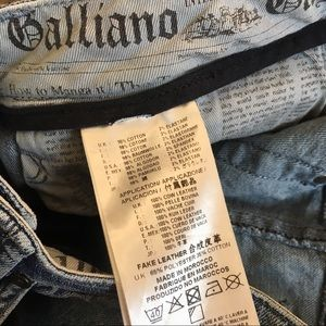 John Galliano Jeans - John Galliano Jeans Leather Logo Detail Girls XL